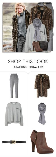 """How to pull off - leopard coat"" by breathing-style ❤ liked on Polyvore featuring Via Spiga, Isabel Marant, MANGO, Care By Me, Gucci, MM6 Maison Margiela and Nine West"