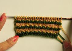 Knit pattern, multicolor knit stitch, knit stitch, knitting, free knitting, tutorial