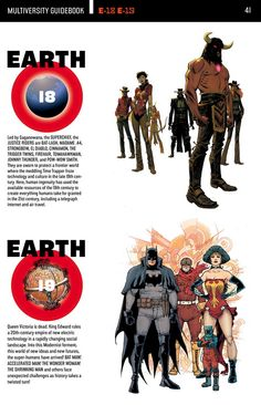 The Multiversity: Earth-18 and Earth-19.