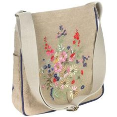 $90.00 floral embroidered bag.   great design     cathkidston.com   (wow! I have expensive tastes!)