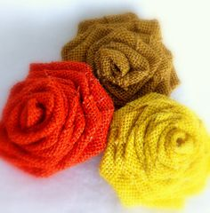 Autumn Burlap Flower Rosettes   Embellishment  by LollysCubbyHole, $4.50