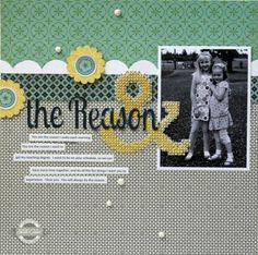 the Reason by Davinie at Studio Calico Stitching On Paper, Cross Stitching, Scrapbook Page Layouts, Scrapbook Cards, Scrapbooking Ideas, Paper Supplies, Create Words, Studio Calico, Making Memories