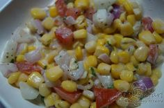 Corn Salad is to be served chilled. Corn brings its own brand of sunshine to the dish and makes for a delicious treat http://goo.gl/njS6Fq