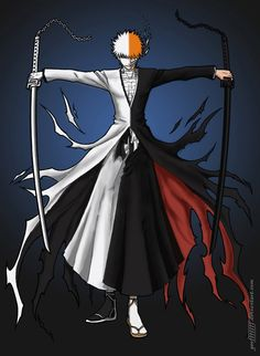 Bleach - such a great concept of fighting yourself to become stronger. Love that mini-arc.