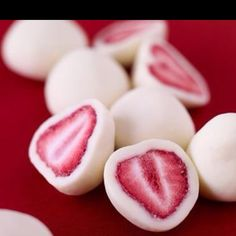 Dip strawberries in Greek yogurt. Freeze. Enjoy! Trying this this summer!