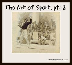 Pat Knepley is on the blog today. Read The Art of Sport, Pt. 2 -how sports have been depicted in art.