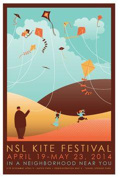 Zach Clough - NSL Kite Festival Poster