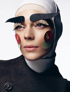 Paper make-up look by Lisa Eldridge