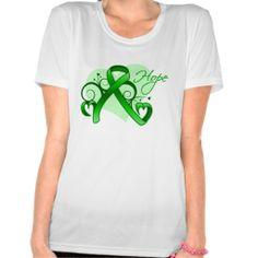 Floral Ribbon Hope - Mental Health Awareness Tshirt by www.giftsforawareness.com #mentalhealthdisease #diseaseawareness #hope