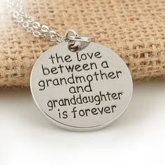 Love Between Grandmother and Granddaughter Pendant Necklace