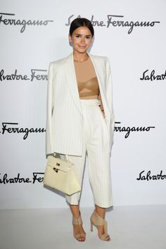 Miroslava Duma - Salvatore Ferragamo - Front Row - Milan Fashion Week Womenswear Autumn/Winter 2014