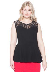 Lace Peplum Top | Women's Plus Size Tops | ELOQUII