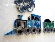 Great quilled train!