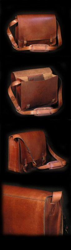 FHT Leather Messenger Bag