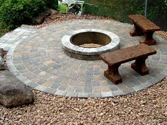 patio ideas | circular patio | garden patio designs uk | patio ... - Patio Ideas With Firepit
