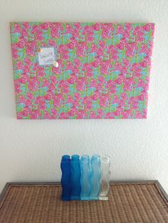 Lilly Pulitzer message magnet board