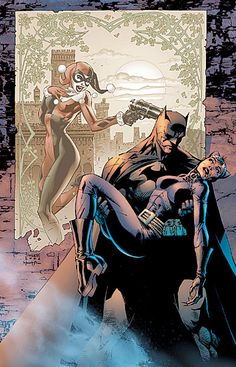 Dollar Comics: Batman - Catwoman and Harley Quinn by Jim Lee and Scott Williams* Batman Hush, Batman And Catwoman, Batman And Superman, Batgirl, Spiderman, Batman Stuff, Comic Book Characters, Comic Book Heroes, Comic Character
