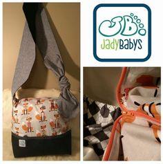 Jady Baby diaper purse #foxes #handmade #diaperpurse #jadybabys