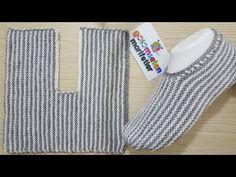 En kolay Bay Bayan Patik Modeli / Ä°ki ÅŸiÅŸ ile Erkek patik modeli / Ä°… - Schuh Aufbewahrung Crochet Socks, Knitting Socks, Baby Knitting, Knit Crochet, Knitted Booties, Knitted Slippers, Knitting Designs, Knitting Patterns, Crochet Patterns