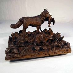 19th Century Inkwell with Fox Meadow - Exquisite