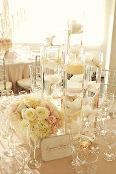 Peach Reception Table | Beach Ceremony at the Sunset Restaurant | Malibu, California | Photography: www.SweetMondayPhotography.com