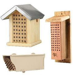 native bee houses - I want to try making something for the solitary bees this year #bees