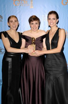 Lena Dunham at Golden Globe 2013
