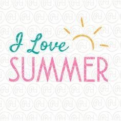 Plotter Freebie -  I love Summer