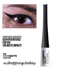 HYPERMATTE LIQUID LINER 24hr pure black matte Create a bold, intense look with the 1st film matte liner that stays on for 24 hours. The blackest, purest, matte-est matte. The blackest