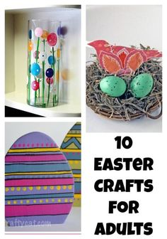 Looking for some fun Easter crafts for adults to chase away the last of the winter blahs! These beautiful DIY Easter ideas will surely cheer you up!
