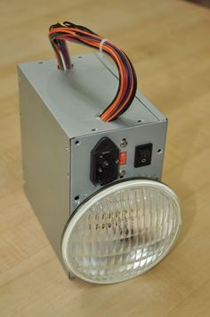 Hack-A-Lantern: Recycled Computer Power Supply Flashlight. Media Recycling and Upscaling Electronics Projects, Electrical Projects, Diy Electronics, Bartop Arcade, Recycling Information, Lunch Boxe, Diy Tech, Old Computers, Reuse Recycle