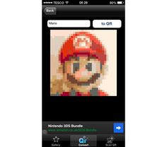 """Animal Crossing New Leaf - How to turn any image into  an Animal Crossing-compatible Code using the iOS app """"QR MyDesign Assistant"""" (link contains link to download app)"""