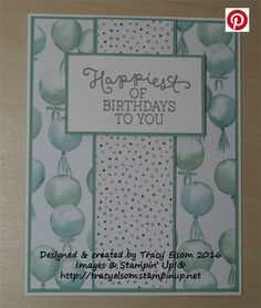 Birthday card created using the Birthday Bouquet Designer Series Paper (DSP) and the coordinating Birthday Blooms Stamp Set from the Stampin' Up! 2016 Occasions Catalogue.  http://tracyelsom.stampinup.net