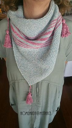 homemade@myplace: Make it ! Knitted triangular scarf !!!