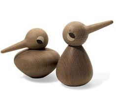 Wooden Birds. Kristian Vedel. These oak birds are simply lovely.