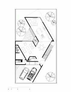 Image 12 of 14 from gallery of / studio. Second Floor Plan Modern House Plans, Small House Plans, House Floor Plans, Architecture Plan, Residential Architecture, Villa Design, House Design, Conceptual Sketches, Courtyard House Plans