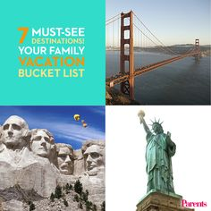 So much to see, so little time! Be sure to take your kids on these 7 family-friendly #vacations before they're grown.