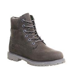 Timberland Premium 6 Boots Grey Mono Nubuck - Ankle Boots