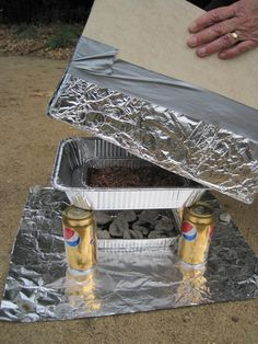 Another way to make a box oven. There is also a list of other outdoor skills.