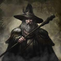 m Wizard staff hat underdark mage