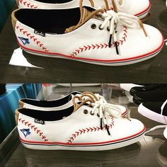 These creative @bluejays sneakers! Just 14 more days to opening day. #mlb #baseball #bluejays #gojaysgo