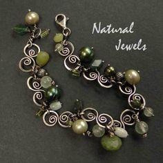 Sterling Silver Bracelet GREEN EMBRACE