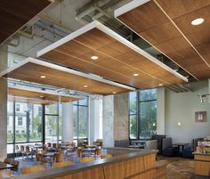Armstrong Perforated FSC Certified Wood Ceiling Panels in Lawrence University Warch Campus Center