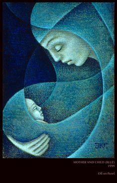 Christian Art ~ Mother and Child: J. Religious Icons, Religious Art, Tableau Pop Art, Blessed Mother Mary, Mary And Jesus, Madonna And Child, Catholic Art, Sacred Art, Christian Art