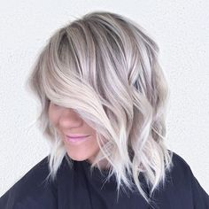 Perfect winter blonde by habitstylist @hairbybrittanyy :snowflake::snowflake::snowflake: