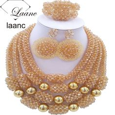 Find More Jewelry Sets Information about Nigerian Costume Jewelry Gold Sets ab Crystal Beaded African Necklace Earrings Bracelet laanc AL030,High Quality jewelry tv,China jewelry magic Suppliers, Cheap jewelry art from laanc african beads Store on Aliexpress.com