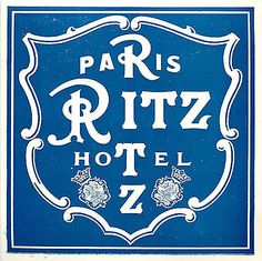 Ritz Hotel ~PARIS FRANCE~ Historic / Classic Old Luggage Label
