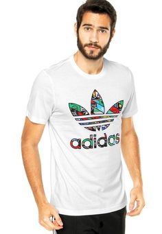 be88114d70 Camiseta adidas Originals Trefoil Tongue Branca