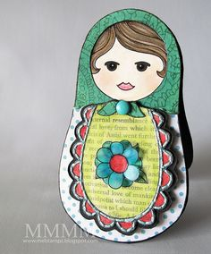 Squigglefly Babushka Matrushka Momma melstampz by melstampz, via Flickr