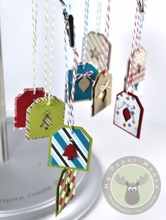 "Simple ""no stamp"" Christmas gift tags. #stampinup"